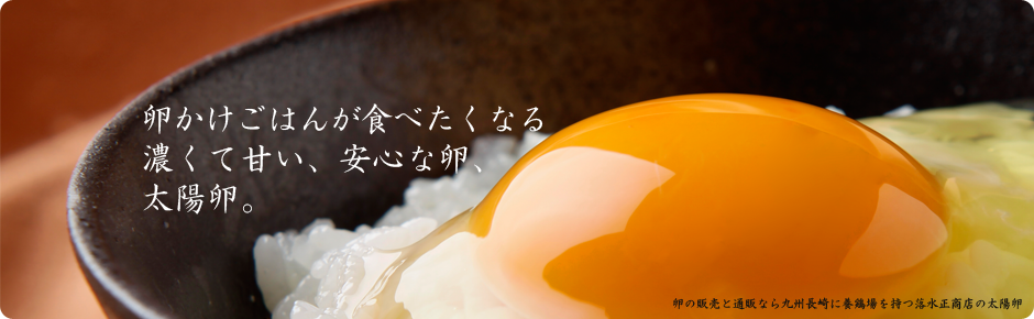卵通販、卵販売なら九州・長崎に養鶏場を持つ落水正商店の高級自然卵