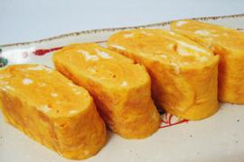 太陽卵で作った卵焼き